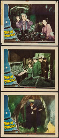 "Movie Posters:Horror, Son of Dracula (Universal, 1943). Lobby Cards (3) (11"" X 14"").Horror.. ... (Total: 3 Items)"
