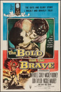 """Movie Posters:War, The Bold and the Brave (RKO, 1956). One Sheet (27"""" X 41""""). War....."""