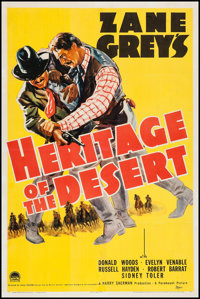 """Heritage of the Desert (Paramount, 1939). One Sheet (27"""" X 41""""). Western"""