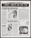 """Movie Posters:Science Fiction, I Married a Monster from Outer Space and Other Lot (Paramount, 1958). Uncut Pressbooks (2) (Multiple Pages, 12"""" X 15"""" and 13... (Total: 2 Items)"""