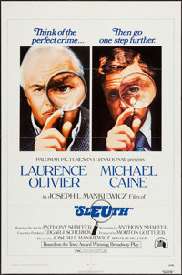 """Sleuth and Others Lot (20th Century Fox, 1972). One Sheets (10) (27"""" X 41""""), and Program (Four Pages, 9""""..."""