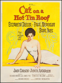 """Cat on a Hot Tin Roof (MGM, 1958). Poster (30"""" X 40"""") Style Z. Drama"""