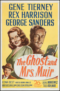 """The Ghost and Mrs. Muir (20th Century Fox, 1947). One Sheet (27"""" X 41""""). Romance"""