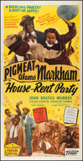 """Movie Posters:Black Films, House Rent Party (Toddy Pictures, 1946). Three Sheet (41"""" X 80.5""""). Black Films.. ..."""