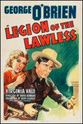 "Movie Posters:Western, Legion of the Lawless (RKO, 1940). One Sheet (27"" X 41""). Western.. ..."