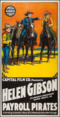 "Movie Posters:Western, Payroll Pirates (Capital Film Co., 1920). Three Sheet (41"" X80.5""). Western.. ..."