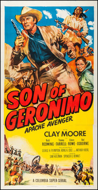 "Son of Geronimo: Apache Avenger (Columbia, 1952). Three Sheet (41"" X 80""). Serial"