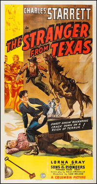 """The Stranger from Texas (Columbia, 1939). Three Sheet (41"""" X 79""""). Western"""