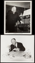 """Movie Posters:Hitchcock, Alfred Hitchcock in The Birds (Universal, 1963). Photos (2) (8"""" X10""""). Hitchcock.. ... (Total: 2 Items)"""