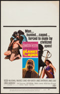 "Movie Posters:Science Fiction, Planet of the Apes (20th Century Fox, 1968). Window Card (14"" X22""). Science Fiction.. ..."