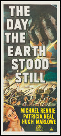 "Movie Posters:Science Fiction, The Day the Earth Stood Still (20th Century Fox, R-1972).Australian Daybill (13"" X 30""). Science Fiction.. ..."
