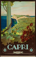 """Movie Posters:Miscellaneous, Capri, Italy Travel Poster by Cario Borgoni (ENIT, Late 1920s-Early1930s). Poster (25.5"""" X 40.5""""). Miscellaneous.. ..."""