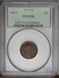 1910 1C PR63 Red and Brown PCGS. PCGS Population (25/130). NGC Census: (11/100). Mintage: 2,405. Numismedia Wsl. Price:...