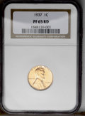 1937 1C PR65 Red NGC. NGC Census: (125/77). PCGS Population (341/157). Mintage: 9,320. Numismedia Wsl. Price: $156. (#33...