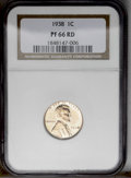 Proof Lincoln Cents: , 1938 1C PR66 Red NGC. NGC Census: (100/11). PCGS Population (222/27). Mintage: 14,734. Numismedia Wsl. Price: $336. (#3341)...