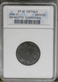 1864 2C Small Motto--Corroded--ANACS. XF40 Details. NGC Census: (5/198). PCGS Population (7/134). Mintage: 19,847,500. N...