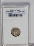 Three Cent Nickels: , 1887 3CN --Cleaned-- ANACS. XF40 Details. NGC Census: (1/68). PCGS Population (1/87). Mintage: 5,000. Numismedia Wsl. Price:...