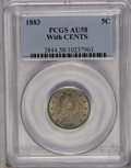 Liberty Nickels: , 1883 5C With Cents AU58 PCGS. PCGS Population (61/710). NGC Census: (17/584). Mintage: 16,032,983. Numismedia Wsl. Price: $...