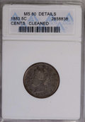 1883 5C With Cents--Cleaned--ANACS. MS60 Details. NGC Census: (3/582). PCGS Population (5/704). Mintage: 16,032,983. Num...