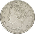 1886 5C --Cleaned-- ANACS. VF20 Details. NGC Census: (12/224). PCGS Population (5/284). Mintage: 3,330,290. Numismedia W...