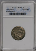Buffalo Nickels: , 1917-D 5C --Corroded-- ANACS. AU55 Details. NGC Census: (17/439). PCGS Population (41/711). Mintage: 9,910,000. Numismedia W...