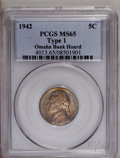 1942 5C Type One MS65 PCGS. Ex: Omaha Bank Hoard. PCGS Population (51/120). NGC Census: (28/177). Mintage: 49,818,600. N...