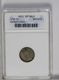 1795 H10C --Scratched-- ANACS. AG3 Details. NGC Census: (0/380). PCGS Population (4/453). Mintage: 78,600. Numismedia Ws...