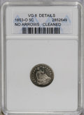1853-O H10C No Arrows--Cleaned-- ANACS. VG8 Details. NGC Census: (0/30). PCGS Population (0/29). Mintage: 160,000. Numis...