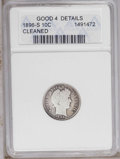 1896-S 10C --Cleaned-- ANACS. Good 4 Details. NGC Census: (2/60). PCGS Population (3/83). Mintage: 575,056. Numismedia W...