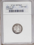 Barber Dimes: , 1896-S 10C --Cleaned-- ANACS. VF20 Details. NGC Census: (2/58). PCGS Population (1/68). Mintage: 575,056. Numismedia Wsl. Pr...
