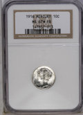 1916 10C MS67 ★ Full Bands NGC. NGC Census: (72/12). PCGS Population (77/7). Mintage: 22,180,080. Numismedia Wsl. Price:...