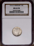1916-S 10C MS63 Full Bands NGC. NGC Census: (38/227). PCGS Population (110/401). Mintage: 10,450,000. Numismedia Wsl. Pr...