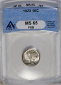 1923 10C MS65 Full Bands ANACS. NGC Census: (168/114). PCGS Population (252/209). Mintage: 50,130,000. Numismedia Wsl. P...