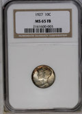 1927 10C MS65 Full Bands NGC. NGC Census: (70/25). PCGS Population (177/97). Mintage: 28,080,000. Numismedia Wsl. Price:...