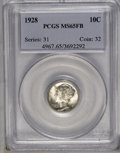 1928 10C MS65 Full Bands PCGS. PCGS Population (199/100). NGC Census: (86/33). Mintage: 19,480,000. Numismedia Wsl. Pric...