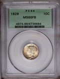1929 10C MS66 Full Bands PCGS. PCGS Population (145/37). NGC Census: (60/9). Mintage: 25,970,000. Numismedia Wsl. Price:...