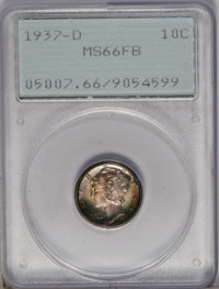 1937-D 10C MS66 Full Bands PCGS. PCGS Population (453/211). NGC Census: (245/134). Mintage: 14,146,000. Numismedia Wsl...