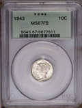 1943 10C MS67 Full Bands PCGS. PCGS Population (135/3). NGC Census: (154/1). Mintage: 191,710,000. Numismedia Wsl. Price...