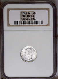 1945-S 10C MS66 Full Bands NGC. NGC Census: (121/103). PCGS Population (378/83). Mintage: 41,920,000. Numismedia Wsl. Pr...