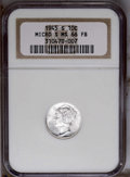 1945-S 10C Micro S MS66 Full Bands NGC. NGC Census: (21/1). PCGS Population (96/13). Mintage: 41,920,000. Numismedia Wsl...
