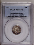 Roosevelt Dimes: , 1952 10C MS65 Full Bands PCGS. Omaha Bank Hoard. PCGS Population (30/66). Mintage: 99,000,000. (#85100)...