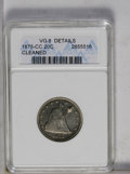 Twenty Cent Pieces: , 1875-CC 20C --Cleaned-- ANACS. VG8 Details. NGC Census: (9/419). PCGS Population (5/502). Mintage: 133,290. Numismedia Wsl. ...