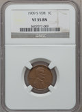 Lincoln Cents: , 1909-S VDB 1C VF35 NGC. NGC Census: (207/2787). PCGS Population(700/4515). Mintage: 484,000. Numismedia Wsl. Price for pro...