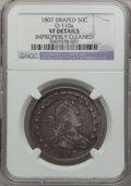 Early Half Dollars, 1807 50C Draped, O-110a, R.2 -- Improperly Cleaned -- NGC Details.VF. PCGS Population (1/3)....