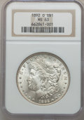 Morgan Dollars: , 1892-O $1 MS63 NGC. NGC Census: (1551/1491). PCGS Population(2465/2079). Mintage: 2,744,000. Numismedia Wsl. Price for pro...