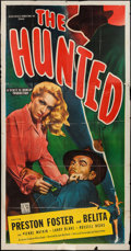 """Movie Posters:Film Noir, The Hunted (Allied Artists, 1948). Three Sheet (41"""" X 79""""). Film Noir.. ..."""