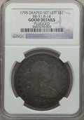 Early Dollars, 1795 $1 Draped Bust, Off-Center, B-14, BB-51, R.2 -- Plugged -- NGCDetails. Good. NGC Census: (0/1). PCGS Population (0/9)...
