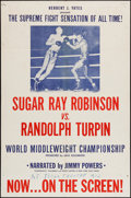 """Movie Posters:Sports, Sugar Ray Robinson vs. Randolph Turpin & Other Lot (RKO, 1951). One Sheets (2) (27"""" X 41"""") Regular & Style B. Sports.. ... (Total: 2 Items)"""