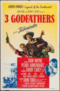 "Movie Posters:Western, 3 Godfathers (MGM, 1948). One Sheet (27"" X 41""). Western.. ..."