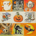 Mainstream Illustration, RUDY NAPPI (American, b. 1923). A Picture of Halloween, TheNorcross Greeting Card Collection. Pen and watercolor on boa...